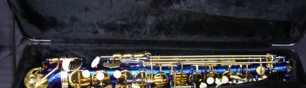 Alto sax in midnite blue